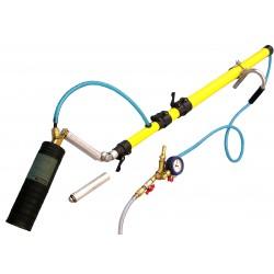 Lance télescopique fibre 3x1,75 m pour l'installation d'obturateur dans une canalisation