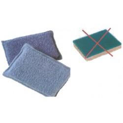 Eponge microfibre grise - Lot de 2