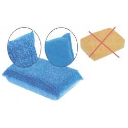 Eponge microfibre bleue - Lot de 2