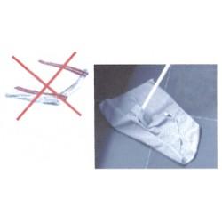 Serpillière microfibre grise 50 x 60 cm - L'unité