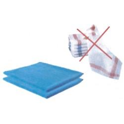 Torchon microfibre bleu 50 x 60 cm - Lot de 2